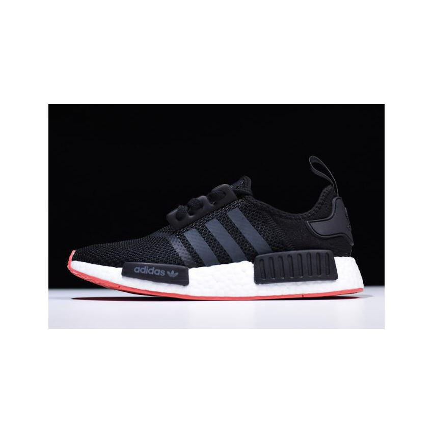 New Adidas NMD R1 BlackCarbon Trace Scarlet Men's Running