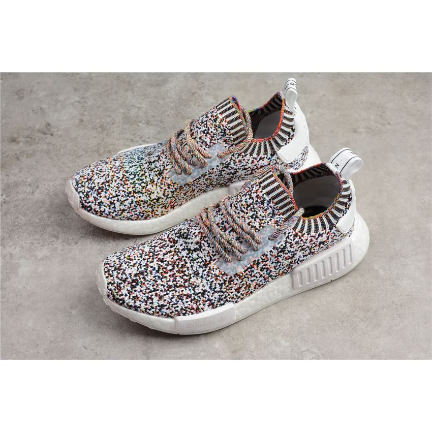 new style 1a914 d1145 Adidas NMD R1 Color Static White/Black-Mutli-Color BW1126 ...