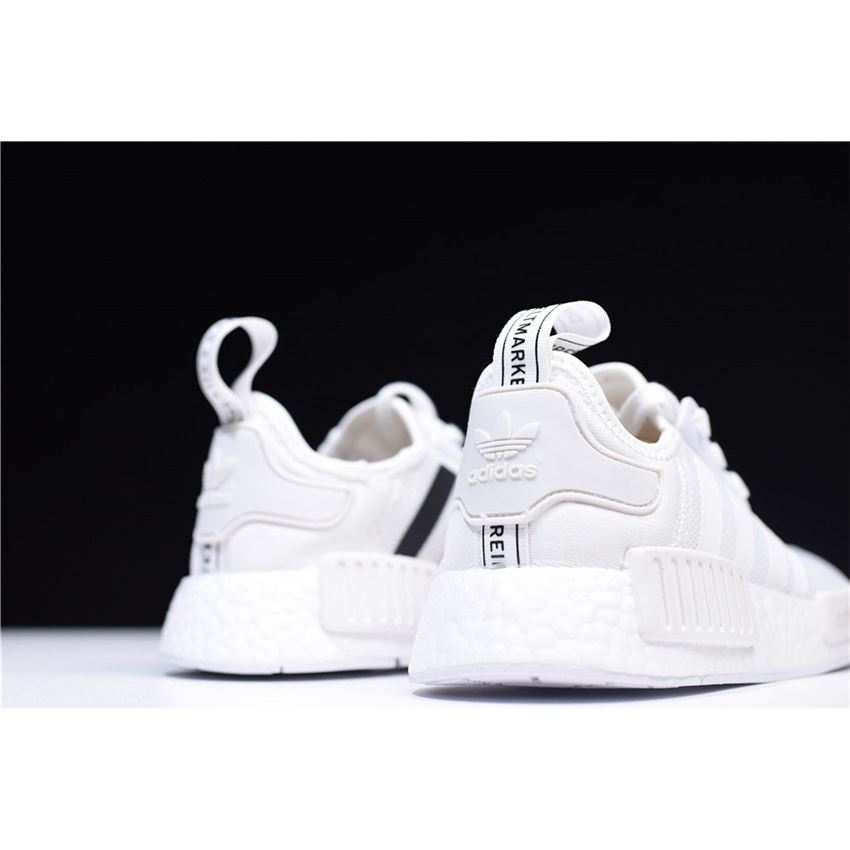 new arrival 34699 bc200 New Adidas NMD R1 Primeknit White Black CQ2411 On Sale ...