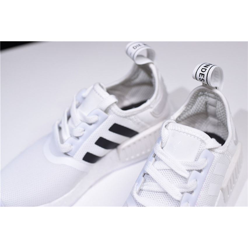 new arrival f3230 73d87 New Adidas NMD R1 Primeknit White Black CQ2411 On Sale ...