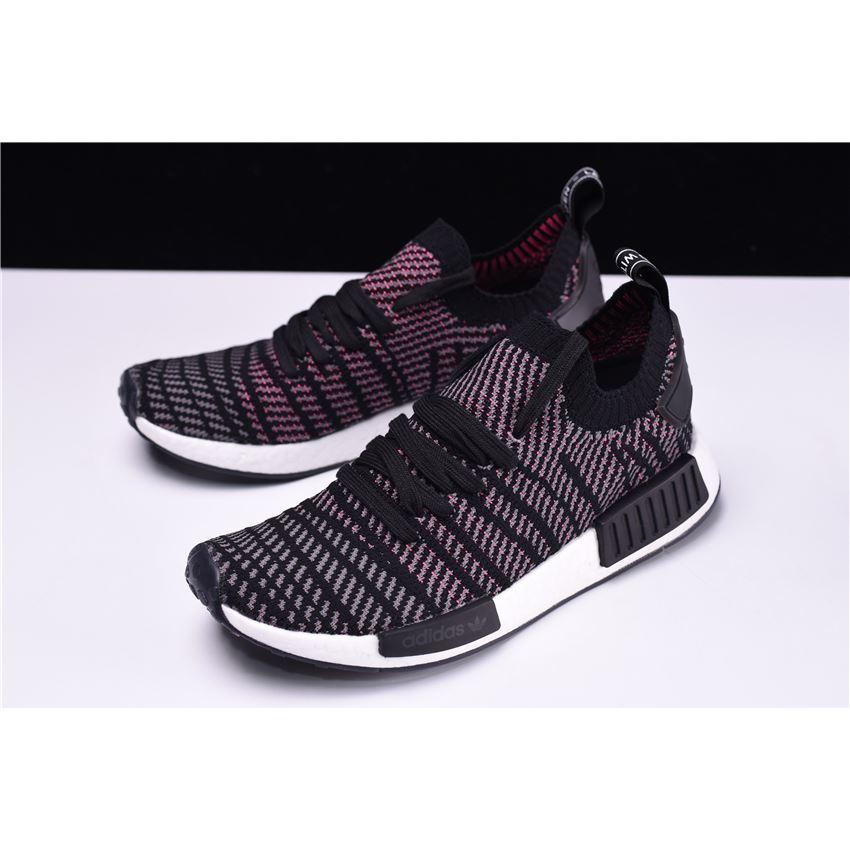free shipping ab80d 86da4 New Adidas NMD R1 STLT Primeknit Core Black/Pink-White ...
