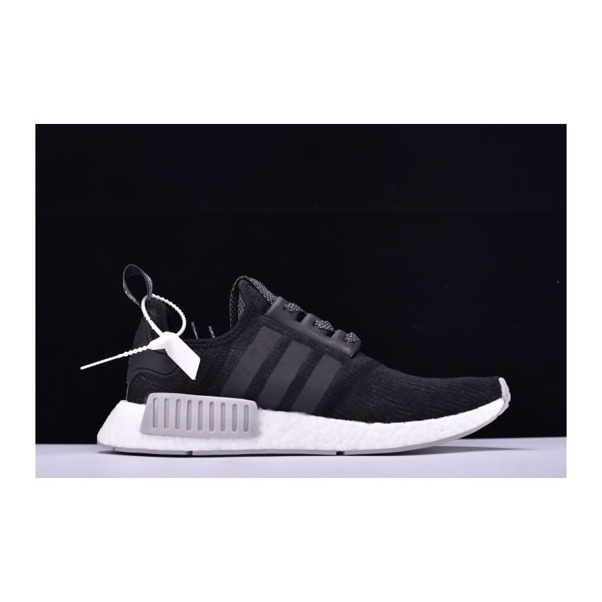 New Adidas NMD R1 Primeknit Black Reflective BlackGrey