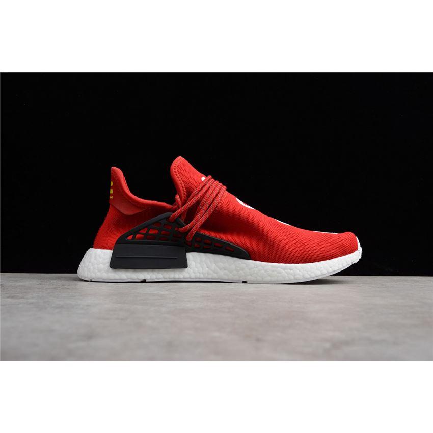 Pharrell X Adidas Nmd Human Race Red Footwear White Black Bb0616