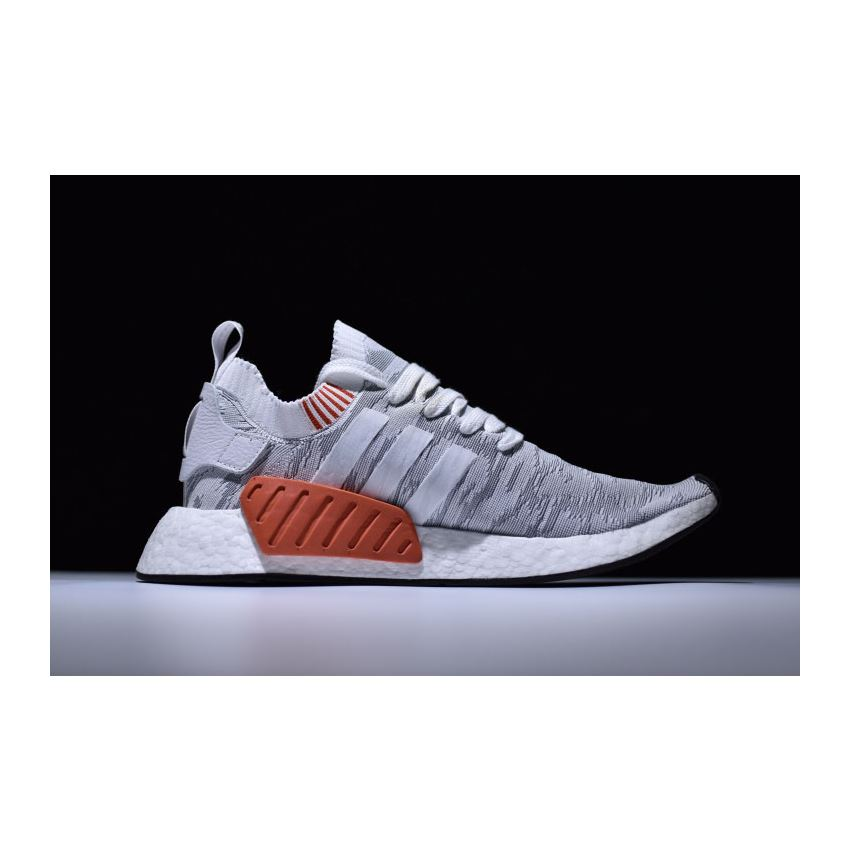 Adidas Nmd R2 Primeknit White Grey Red Men S And Women S Size