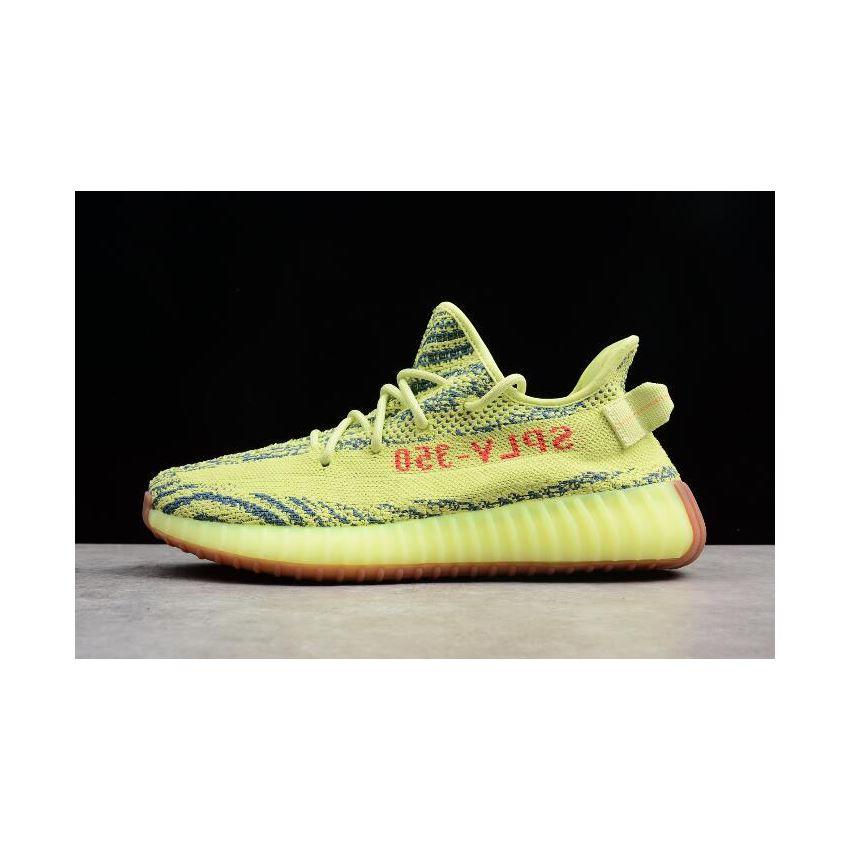 2dda5a36b0b79 2018 Adidas Yeezy Boost 350 V2 Semi Frozen Yellow Raw Steel Red B37572