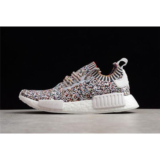 dfacdf1304fd3 Adidas NMD R1 Color Static White Black-Mutli-Color BW1126