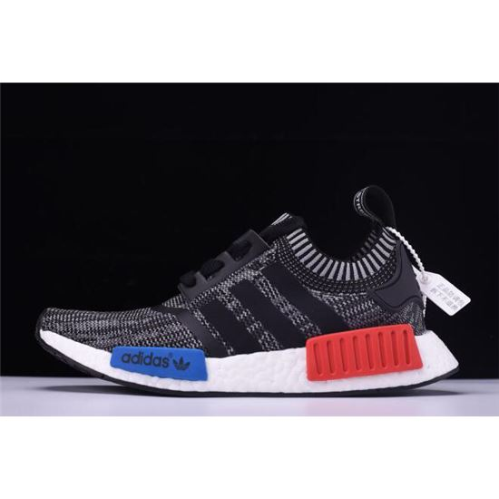New Adidas Nmd R1 Primeknit Friends And Family Grey Red White Blue