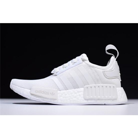 New Adidas NMD R1 Primeknit White Black
