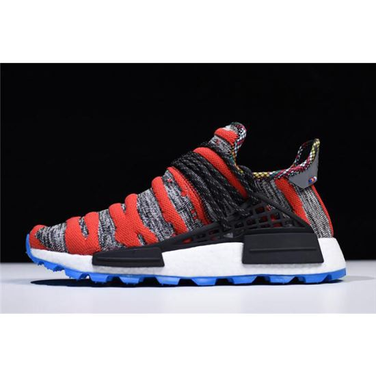 buy popular f50b1 1635e 2018 Pharrell x Adidas NMD Afro Hu Red Grey Black Shoes ...