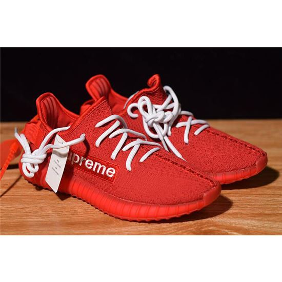 hot sale online c517c e7388 Supreme x Adidas Yeezy Boost 350 V2 Red/White F36923, Adidas ...